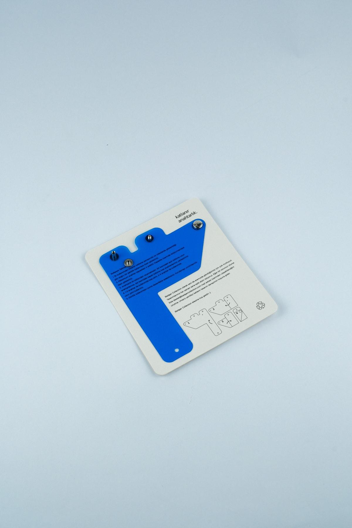 Badger Collection Katlanır Anahtarlık - Unisex Mavi Anahtarlık