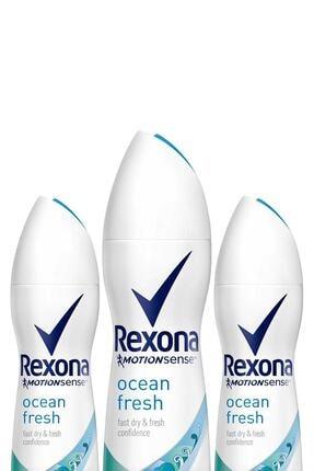 Rexona Kadın Deodorant Sprey Ocean Fresh 150 ml X 3 0