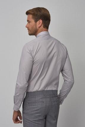 Altınyıldız Classics Erkek Gri Tailored Slim Fit Klasik Gömlek 4