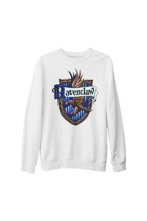 Lord T-Shirt Unisex Beyaz Harry Potter Ravenclaw Kalın Sweatshirt 0