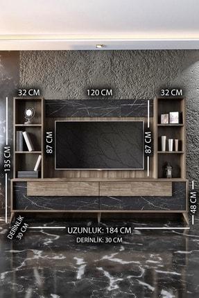 Modatte New Tenon Tv Ünitesi Royal Mermer-Ceviz 4