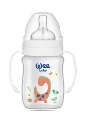 Wee Baby Klasik Plus Geniş Ağızlı Kulplu Pp Biberon 250 Ml 138 Beyaz 0