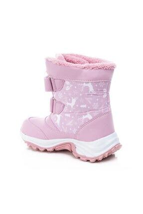 Noxis Ren Pembe Kız Çocuk Kışlık Içi Kürklü Kar Botu 2