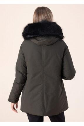 Vero Moda Kadın Haki Kapüşonlu Mont 10217159 4