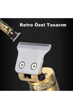 yopigo V-085 T-bıçak Komple Vucüt Kılı Traş Saç Ense Sakal Çizim Tıraş Makinesi Erkek Seti 3
