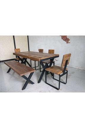 Deryawood Masif Mobilya Deryawood Masif Ağaç Yemek Masası 70*120*76 Cm 2
