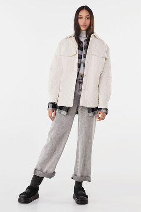 Bershka Kadın Krem Ince Ceket 0