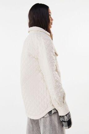 Bershka Kadın Krem Ince Ceket 1