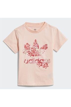adidas Kız Bebek Pembe Baskılı  T-Shirt 0