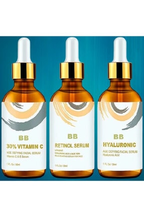 BB Vitamin C + Hyaluronic Acid + Retinol Cilt Serum Set 2