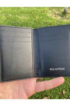 BALANTION Milano Model Unisex Siyah Alligatör Kartlık 3