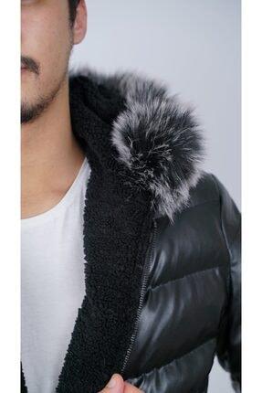 Ogb Tekstil Erkek Siyah Şişme Mont 2
