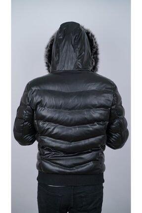 Ogb Tekstil Erkek Siyah Şişme Mont 3