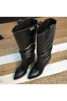 Kadın Siyah Çizme Çizme Bot