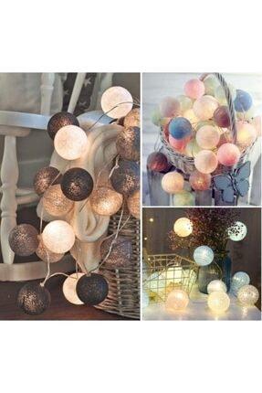 Nettenevime Renkli Led Işık Topları Dekoratif Işıklı Hasır Toplar 3
