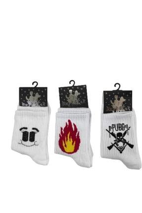 RockStar Games Kolej Çorap 3 Çift Bir Arada 0