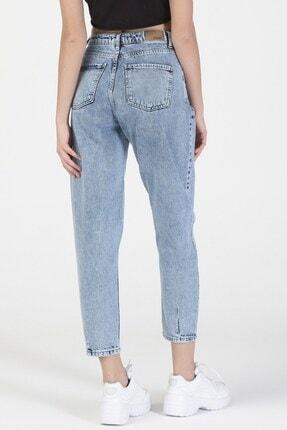 its basic Kadın Mavi Kot Rengi Yüksek Bel Balon Jeans 1