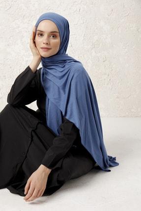 MUJERSCARFS Kadın Petrol Mavisi Penye Şal 1