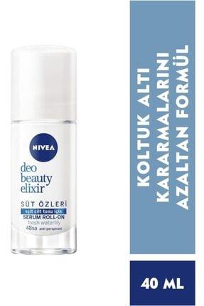 Nivea Deodorant Beauty Elixir Süt Özleri Fresh Waterlily Kadın Rolon 0