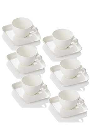 ACAR Porselen Sade 6'lı Çay Fincanı 0