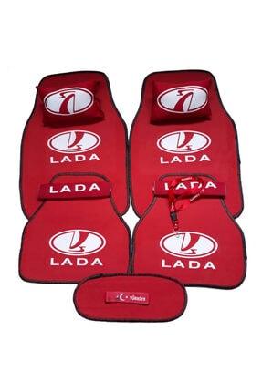 TUSBA MARKET Lada Logolu 5 Parça Oto Halı Paspas + Konfor Seti 0