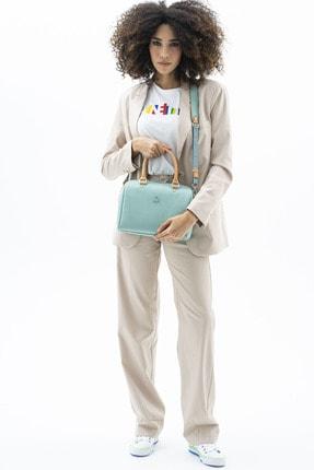 Benetton Kadın Açık Camel  Kol Çantası Bnt455 4