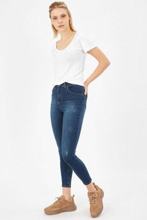 Arma Life Kadın Çağla Tint Taşlanmış Lazerli Yüksek Bel Likralı Pantolon 2