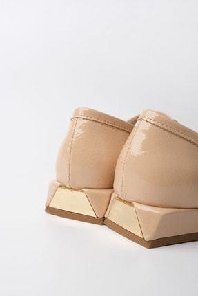 Marjin Kadın Bej Rugan Loafer Ayakkabı Annar 2