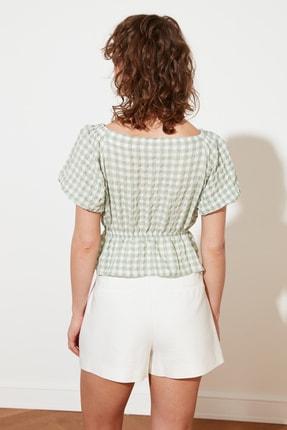 TRENDYOLMİLLA Mint Petite Bağlama Detaylı Bluz TWOSS21BZ1526 4