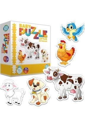 İstocToptan Circle Toys Baby Puzzle Çiftlik Hayvanları 0