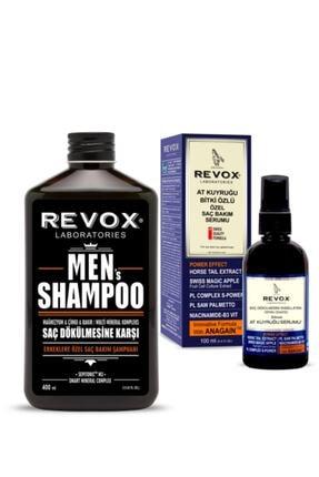 Revox Erkeklere Özel Saç Bakım Şampuanı + At Kuyruğu Bitki Özlü Özel Saç Bakım Serumu 0