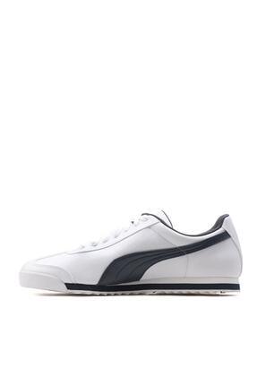 Puma ROMA BASIC Beyaz Lacivert Erkek Sneaker 100126098 1