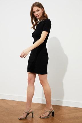 TRENDYOLMİLLA Siyah Mini Örme Elbise TWOSS19AD0053 1