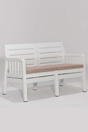 SANDALİE Lara 2 1 1 S Balkon&teras Bahçe Mobilyası / Beyaz 4