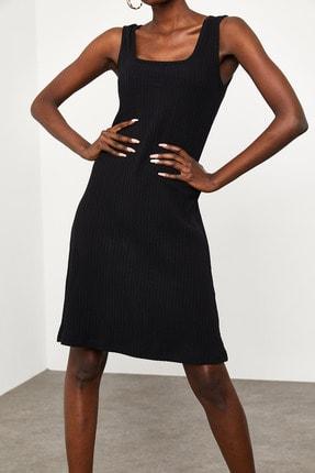 Xena Kadın Siyah Fitilli Elbise 1KZK6-11610-02 3