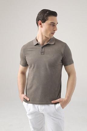 D'S Damat Erkek Vizon Regular Fit Pike Dokulu T-shirt 1