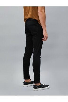 Koton Erkek Siyah Jean Pantolon 4