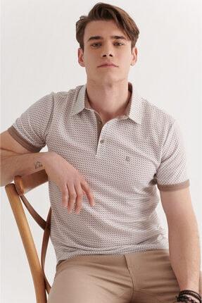 Avva Erkek Vizon Polo Yaka Double Kol Baskılı T-shirt A11y1137 3