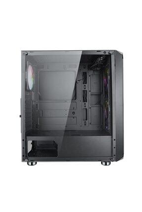 TURBOX Xinzhao 500w Power 4xrainbow Fan Tamperli Yan Mesh Ön Panel Gaming Oyuncu Bilgisayar Kasası 3