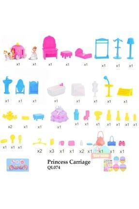dreamtify Similan Benim Ilk Prenses Arabam Bal Kabağı Evi 44 Parça Barbie Tarzı 3