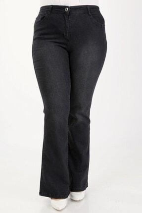 E Collection Ispanyol Paça Likralı Büyük Beden Jeans Pantolon 0