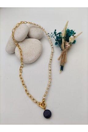 Stoneage Inci Ve Lapis Lazuli Taşlarından Şifa Kolyesi 0