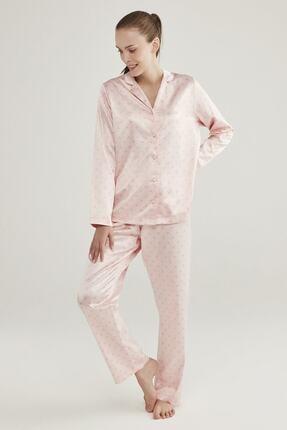 Penti Pembe Saten Hearts Pijama Takımı 1