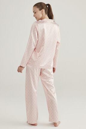 Penti Pembe Saten Hearts Pijama Takımı 4