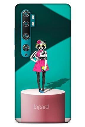 Lopard Xiaomi Mi Note 10 Pro Kılıf Funnymax (10) Full Koruma Kılıfı Yeşil Pembe 0