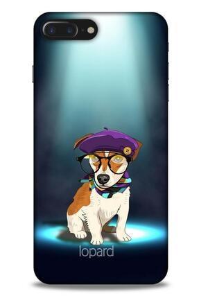 Lopard Apple Iphone 8 Plus Kılıf Funnymax (5) Koruma Kabı Yeşil Köpek 0