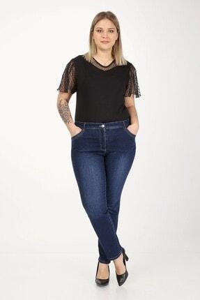 E Collection Büyük Beden Full Likralı Jeans Pantolon 2