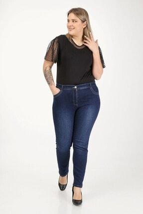 E Collection Büyük Beden Full Likralı Jeans Pantolon 3
