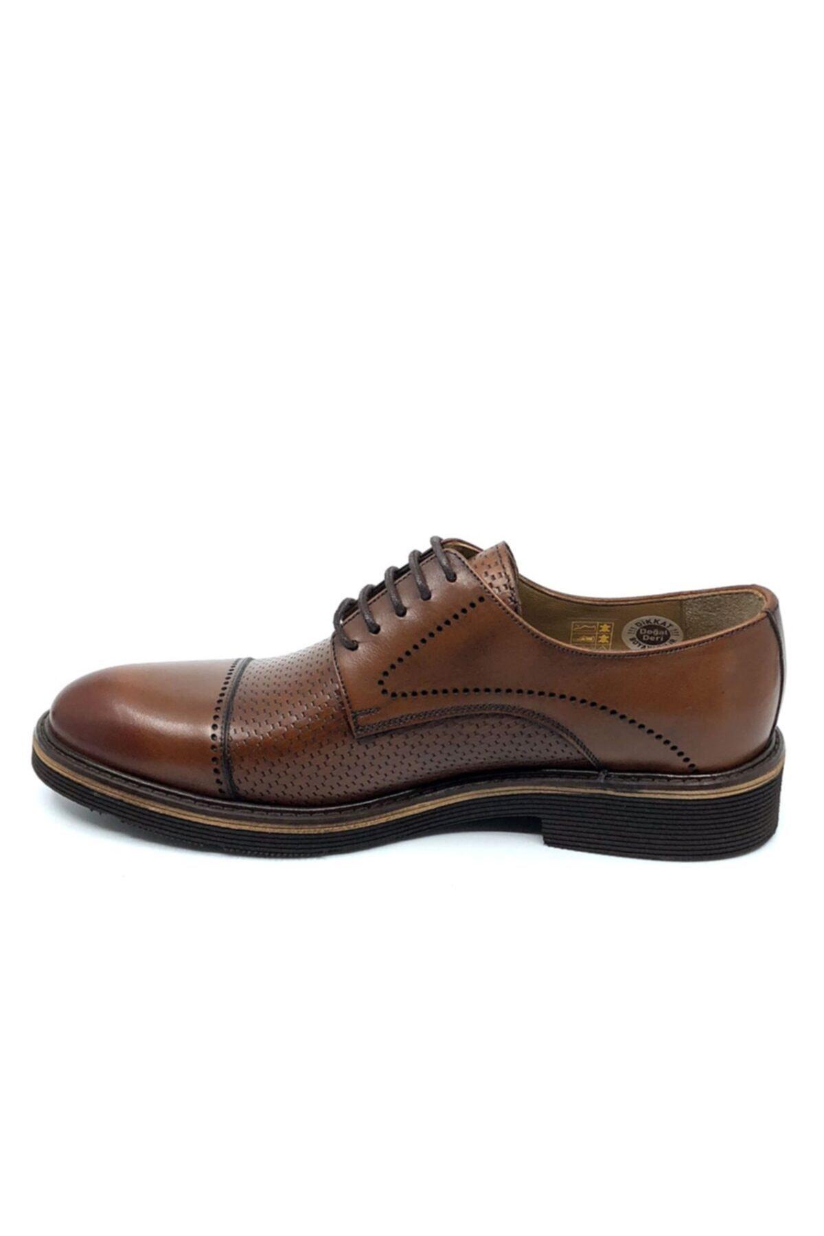 Fosco Erkek Taba Hakiki Deri Ayakkabı