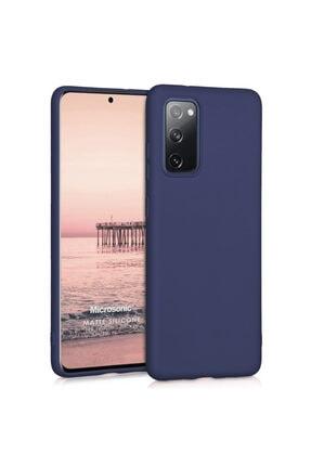 Samsung Microsonic Matte Silicone Galaxy S20 Fe Kılıf Lacivert 0